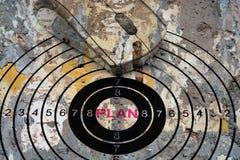 Plan target concept Stock Image