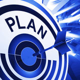 Plan Target Means Planning, Missions And Goals Royalty Free Stock Images