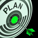 Plan Target Means Planning, Missions And Objectives Stock Photos