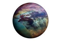 Plan?te fantastique d'?toile, d'isolement sur le fond blanc Des ?l?ments de cette image ont ?t? fournis par ESA-Hubble photos libres de droits