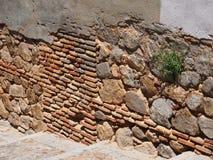 Plan tegelstenvägg, Toledo Arkivfoto