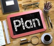 Plan - Tekst op Klein Bord 3d Stock Foto's