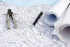 Plan territorial Image libre de droits