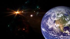 Plan?tes et galaxie Papier peint de la science-fiction photos stock