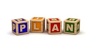 Plan Text Cube Royalty Free Stock Photo