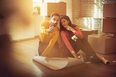 Plan of their home space royalty free stock photo