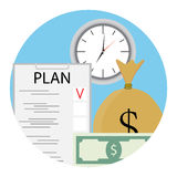 Plan time and money Stock Images