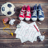Plan to playing football in school Stock Photography