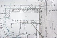 Plan topographique du secteur, l'emplacement des b?timents et communications sur le terrain photographie stock libre de droits