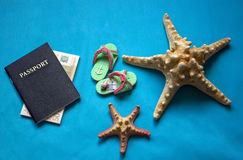Plan travel.Preparing to travel to the sea. Stock Images