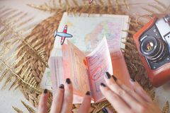 Plan For Travelling. Travel concept. Stock Photo