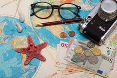 Plan of trip Royalty Free Stock Image