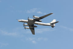 Plan Tu-95 Royaltyfria Foton