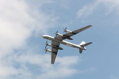 Plan Tu-95 Royaltyfria Bilder