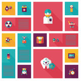 Plan uibakgrund för läkarundersökning, eps10 Arkivbild