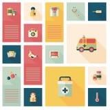 Plan uibakgrund för läkarundersökning, eps10 Royaltyfri Foto