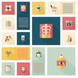 Plan uibakgrund för läkarundersökning, eps10 Royaltyfria Bilder