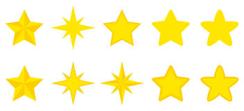 Plan uppsättning av stjärnor Arkivbild