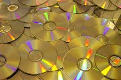 plan ut spreadyttersida för täta cd-skivor upp Fotografering för Bildbyråer