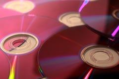 plan ut spreadyttersida för täta cd-skivor upp Arkivfoto