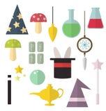 Plan utrustning för magi Royaltyfria Bilder