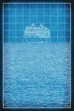 Plan uw achtergrond van de cruisereis Stock Foto
