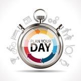 Plan uw dag royalty-vrije illustratie