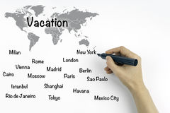 Plan for vacation Royalty Free Stock Photo