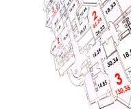 Plan van de bouw met copyspace Stock Foto's