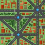 Plan van de stad royalty-vrije illustratie