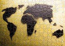 Plan van de wereld Stock Foto
