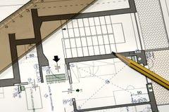 Plan van een nieuw huis Royalty-vrije Stock Afbeelding