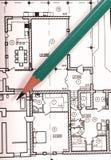 Plan van huis royalty-vrije stock afbeelding