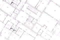 Plan van huis stock foto's