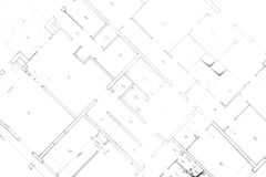 Plan van mijn huis Royalty-vrije Stock Foto