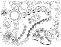 Plan van tuin Royalty-vrije Stock Fotografie