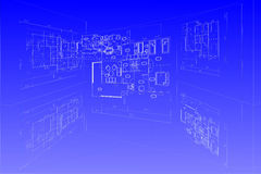 Plan vector blueprint Stock Images