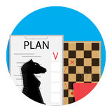 Plan vector icon. Project plan business, board and development illustration Royalty Free Stock Photos