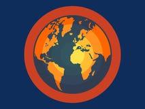 Plan vektorillustration för global uppvärmning för apps och websites Royaltyfri Bild