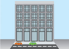 plan vektorstadsbyggnad Stock Illustrationer
