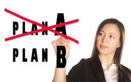 Plan A versus B Royalty Free Stock Photo