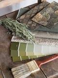 Plan vert terreux de décoration intérieure Image stock