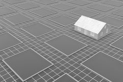Plan View White Building Warehouse royalty free illustration