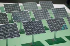 Plan von Sonnenkollektoren Lizenzfreies Stockfoto