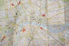 Plan von zentralem London Lizenzfreies Stockfoto