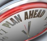 Plan-voran Uhr-Zeit-Zukunftsplan-Strategie Stockfotografie