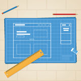 Plan-Website Lizenzfreie Stockfotos