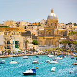 Plan wiev on the bay near Valletta Royalty Free Stock Image