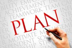 Plan word cloud Royalty Free Stock Image