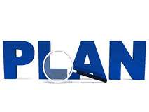 Plan Word Shows Plans Planned Planning And Aims Stock Photo